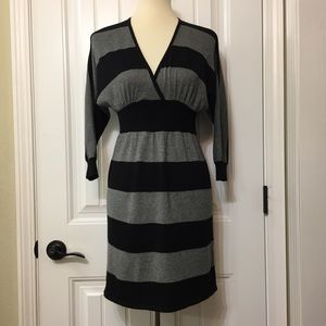 Express sweater Dress faux wrap top